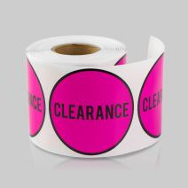 TUCO DEALS 2 Inch Round Retail Store Pink Color Stickers for Sale Stickers (Pink, 2 Rolls Per Pack)