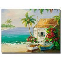 Key West Breeze by Master's Art, 35x47-Inch Canvas Wall Art