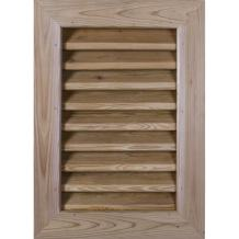 "Ekena Millwork GVWVE26X1602SDUPI Unfinished, Decorative and Smooth Pine 26"" Width x 16"" Height Vertical Gable Vent with Decorative Face Frame"