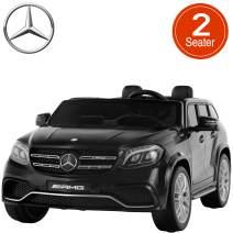 Uenjoy 2 Seater 12V Licensed Mercedes-Benz GLS63 AMG Kids Ride On Car Electric Cars Motorized Vehicles for Kids, with Remote Control, Music, Horn, Spring Suspension,Compatible Mercedes-Benz, Black
