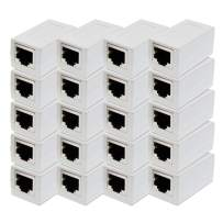 ITBEBE RJ45 in-Line Coupler Connector Cat7 Cat6 Cat5E Ethernet Network Cable Extender Adapter (20-Pieces, White)