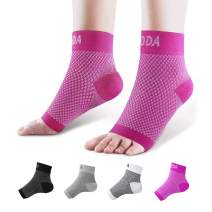 Ankle Brace for Men Women Pair AVIDDA Plantar Fasciitis Socks with Arch Support Compression Ankle Support Foot Sleeve for Achilles Tendon Support Swelling Eases Heel Pain Relief Pink M