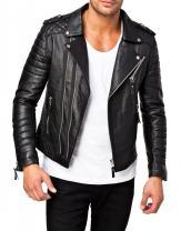 Laverapelle Men's Genuine Lambskin Leather Jacket (Black, Fencing Jacket) - 1501073