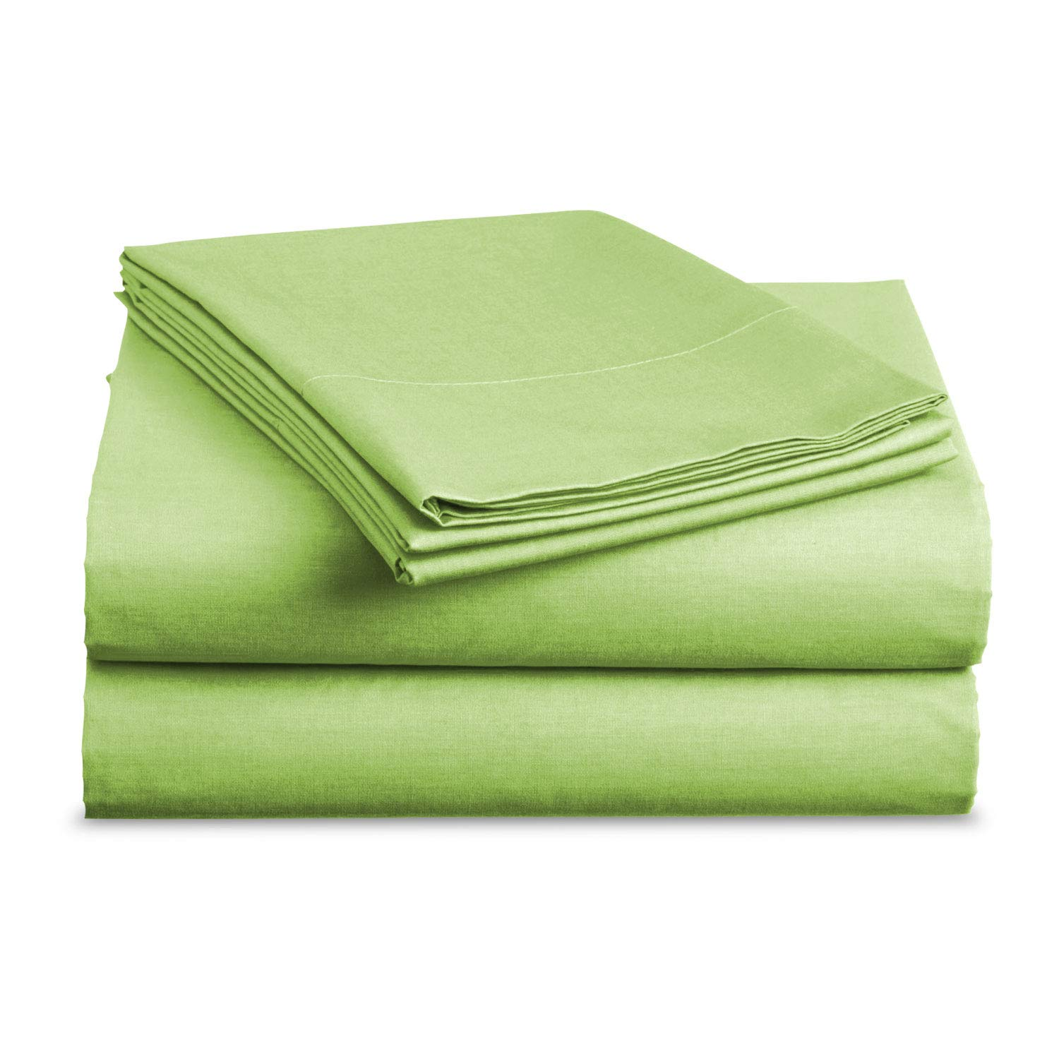 BASIC CHOICE Bed Sheet Set - Brushed Microfiber 2000 Bedding - Wrinkle, Fade, Stain Resistant - Hypoallergenic - 4 Piece (Cal King, Lime)