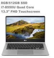 "2020 LG Gram 13"" Full HD (1920x1080) IPS Touchscreen Thin and Light Business Laptop (Intel Quad-Core i7-8550U, 8GB RAM, 512GB SSD) Fingerprint, Backlit Keyboard, Type-C, HDMI, Windows 10 Pro"