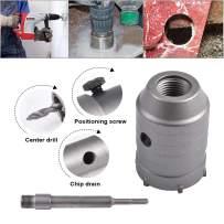 HOHXEN 45mm SDS Plus Shank Hole Saw Cutter Concrete Cement Stone Wall Drill Bit