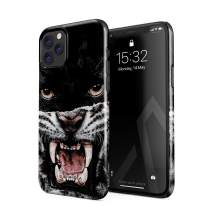 BURGA Phone Case Compatible with iPhone 11 PRO - Lethal Hunter Savage Wild Panther Vs Tiger Cute Case for Women Thin Design Durable Hard Plastic Protective Case