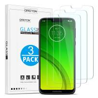 OMOTON Screen Protector for Moto G7 Power - Bubble Free Scratch Resist Tempered Glass for Motorola Moto G7 Power 6.2 Inch (3 Pack)