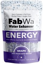 Fabwa Energy Water Enhancer, Grape, 12 Count