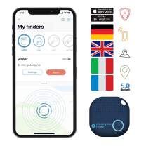 musegear app Key Finder (Dark Blue), New Version 2 | 3X Louder | Easily find and Track Your Keys, Phone, Remote, Wallet | Smartphone Bluetooth-GPS Pairing