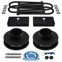 """Supreme Suspensions - Full Lift Kit for 2002-2008 Dodge Ram 1500 2"""" Front Lift Spring Spacers + 1"""" Rear Lift Blocks + Round Bend U-Bolts 2WD 