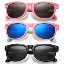 SeeBand Kids Polarized Sunglasses TPEE Rubber Flexible Frame for Age 3-10