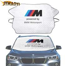 JYMAOYI for BMW Windshield Cover Car Snow Cover M Logo Windshield Visor Cover Front Window Protector Visor Ice Frost Defense Snow for 1 2 3 5 6 7 X M Series E81-93 E21-24 F01-04 F10-13 X1-7 etc