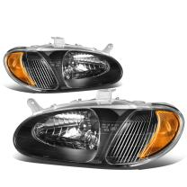 Replacement for Sephia Black Housing Amber Corner Front Bumper Driving Headlights/Lamps