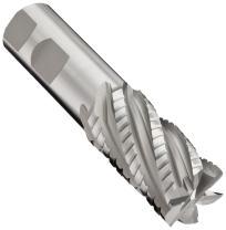 "YG-1 E2248 Cobalt Steel Square Nose End Mill, Weldon Shank, Uncoated (Bright) Finish, 30 Deg Helix, 5 Flutes, 4.125"" Overall Length, 0.875"" Cutting Diameter, 0.75"" Shank Diameter"