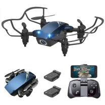 S9M Mini Drone, Supkiir 4-AXIS Drone with 720P HD Camera, Mini RC Quadcopter for Kids Beginners Adult, Foldable FPV WiFi Helicopter, Attitude Hold, 3D Flips, Gravity Control and Trajectory Flight