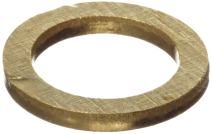 "260 Brass Round Shim, Unpolished (Mill) Finish, H02/H04 Temper, ASTM B36, 0.003"" Thickness, 0.123"" ID, 0.178"" OD (Pack of 10)"