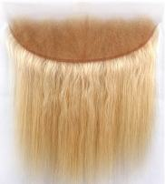 Sent Hair 8A 613 Blonde Frontal Lace Closure with Baby Hair Straight Brazilian Human Hair Lace Frontal Pre Plucked Ear to Ear Closure 13x4 12 inch