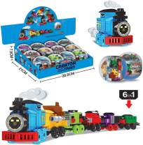 Toys Train Sets for Kids,12 PCS Easter Eggs,Easter Basket Fillers Fift for Boys 6-8-14, Model Train Track,Birthday/Party Favors/Party Supplies for Ages9 10 11 12 Year Old Boys