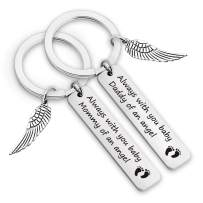 EIGSO Baby Memorial Keychain Miscarriage Gifts Mommy/Daddy of an Angel Memorial Gift for Infant Loss Sympathy Gift for Loss Child