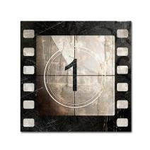 Vintage Countdown I by Color Bakery, 14x14-Inch Canvas Wall Art