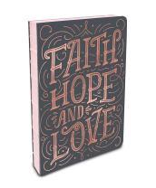 Studio Oh! Hardcover Coptic-Bound Journal, Faith, Hope, Love