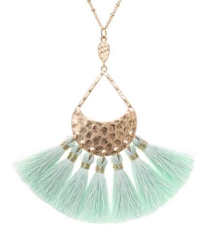 Bohemian Navy Blue Tassel Necklace,fringe tassel necklace,long tassel necklace,blue fringe tassel,ladies tassel necklaces