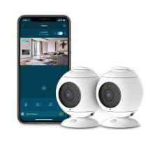 Motorola Focus89-2W Wireless Indoor Cameras for Home-Security Surveillance System with Temperature, Sound and Motion Detection, Remote Pan, Tilt, Digital Zoom, Two-Way Talk - 1080p Video, Night Vision