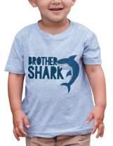 7 ate 9 Apparel Boy's Brother Shark Grey T-Shirt