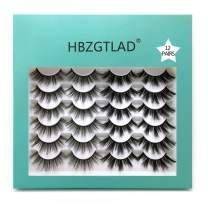 HBZGTLAD 3D Faux Mink Lashes Handmade Luxurious Volume Fluffy Natural Makeup False Eyelashes, 2 Different Styles Soft Reusable False Eyelash, & Long Lasting (1205)