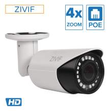 Zivif PoE Camera 4X Motorized Zoom - 1080P Bullet Outdoor IP Security Camera