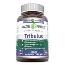 Amazing Formulas Organic Tribulus- 630 mg,120 Vegan Capsules