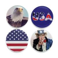 Buttonsmith Patriot Tinker Top Set - to use with Tinker Reel Badge Reel - Made in The USA