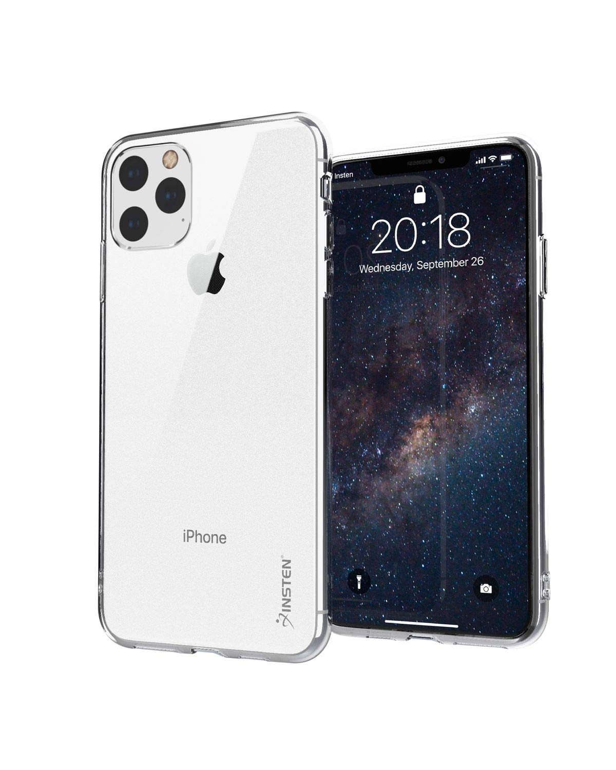 """Compatible with iPhone 11 Pro Max Clear Case, Insten Crystal Ultra Slim Soft TPU Protective Cover Compatible with iPhone 11 Pro Max 6.5"""" [Reinforced Camera Lens Protection][Support Wireless Charging]"""