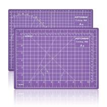 """ASTONBAY A4 Size Purple Cutting Mat, Self Healing Pad for Sewing Table, Double-Sided PVC Desk Ruler Board for Rotary Cutting, Sewing Fabric, Quilting, Crafting, Painting, 12""""x9"""", Metric and Imperial"""