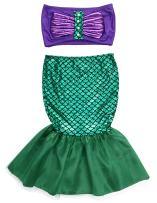 Kids Toddler Girl Mermaid Costume Two Piece Swimsuit Bikini Set Bathing Suit Mermaid Tail Skirt Outfit 2-7T