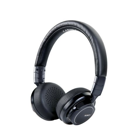 AUKEY Bluetooth Headphones on Ear, Wireless Headphones with Deep Bass, Mic and 3.5mm Audio Input, 18 Hour Battery Life, HiFi Stereo Headset for Cell Phones, Tablets and PC