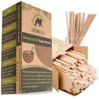 GreenBoss Biodegradable Paper Straws 200-Pack Dye-Free, 100% Biodegradable, Compostable and Plastic-Free, FDA & FSC Certified -Perfect on any Event which needs that Eco-friendly Sip
