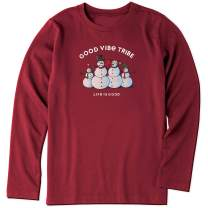 Life Is Good Boys Holiday Long Sleeve Crusher T-shirt good Vibe Tribe