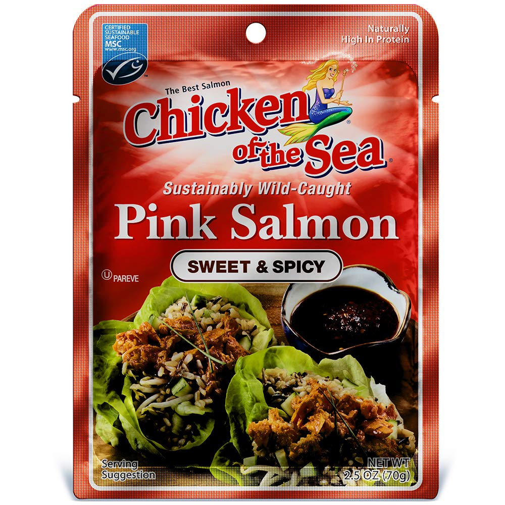 Chicken of the Sea Pink Salmon, Sweet & Spicy, 2.5 Oz (Pack of 12)