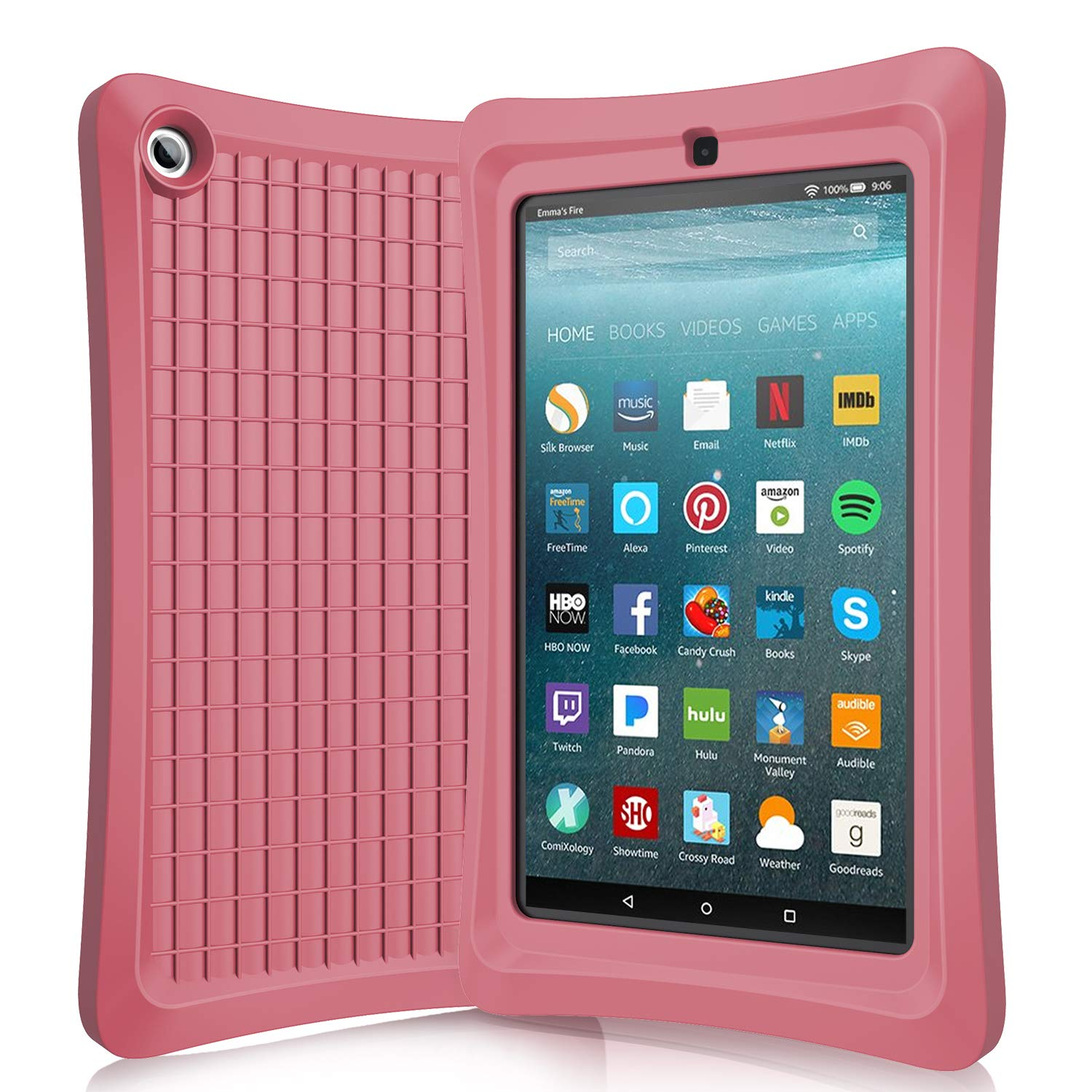 Benazcap Case for All-New 7 Inch Tablet 2019 - Lightweight Rugged Shockproof Anti Slip Soft TPU Case Protective Kids Cover for 2019 Tablet 7 Inch 9th Gen,Crimson