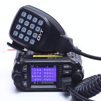 QYT KT-8900D 25/20W Dual Band Quad Standby Mini Color Screen Car Radio Mobile Transceiver VHF/UHF 136-174/400-480MHz Mobile Radio Two Way Radios with Free Programming Cable & Software CD