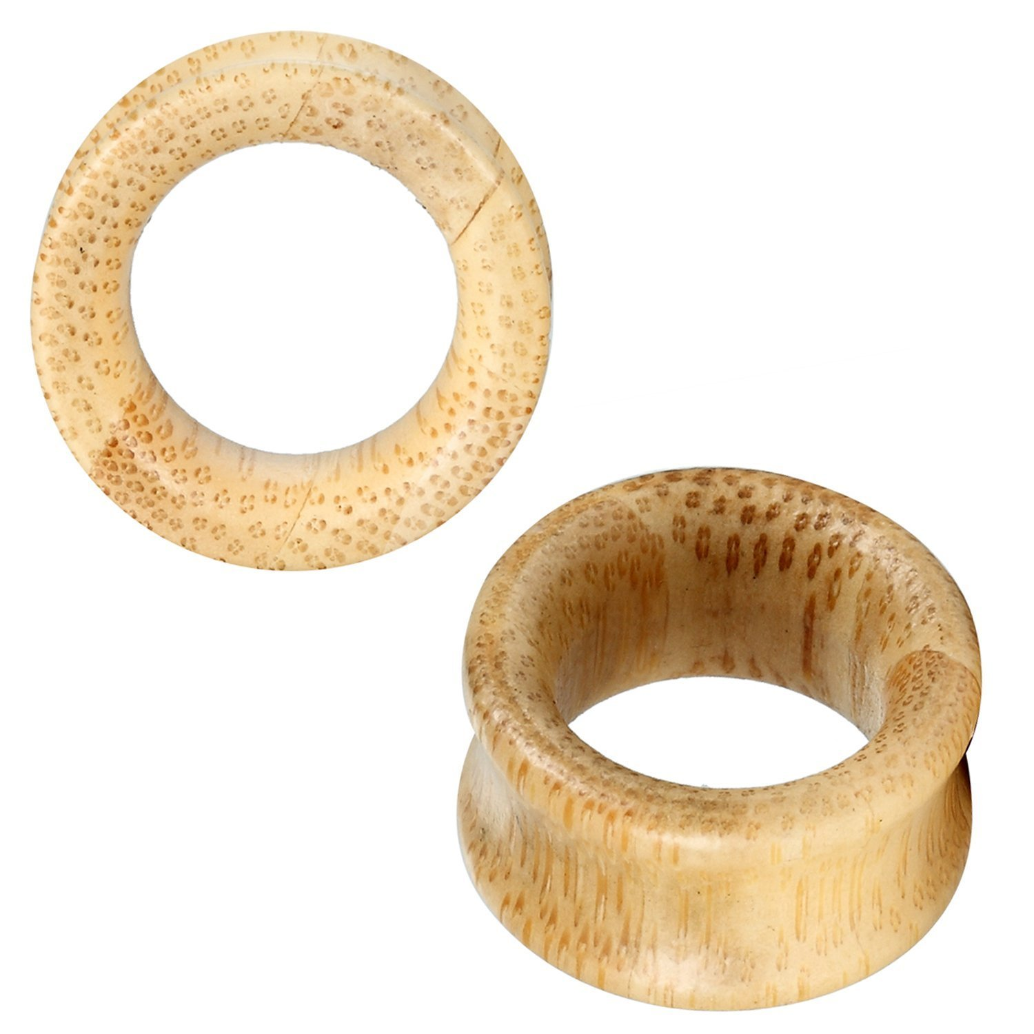 BodyJ4You Organic Maple Wood Tunnels 00G-20mm (2 Pieces)