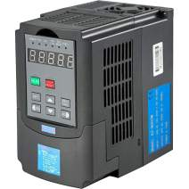 VEVOR VFD 0.75KW,Variable Frequency Drive 4A,CNC VFD Motor Drive Inverter Converter 220V,for Spindle Motor Speed Control (1or 3 Phase Input,3 Phase Output)