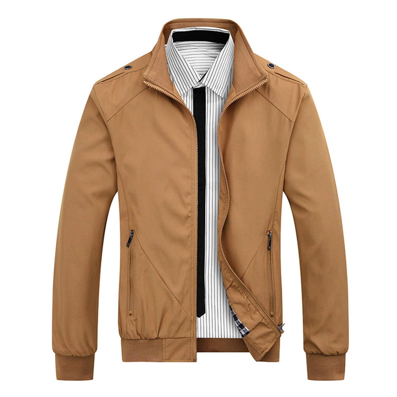 NANKEYSTAR Men's Full Zip Casual Windbreakers Slim fit Bomber Jacket
