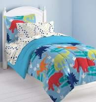 Dream Factory Dinosaur Prints Boys Comforter Set, Multi-Colored, Twin