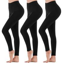Womens High Waisted Leggings - Soft Athletic Tummy Control Full Length Pants for Running Cycling Yoga Workout