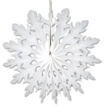 """Beistle 22875-W White Tissue Paper Snowflake, 15"""", 1 Piece"""
