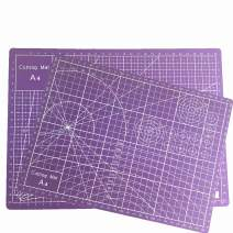 """Tukcherry 9"""" x 12"""" Professional Self Healing Double Sided Durable Non-Slip PVC Cutting Mat Scrapbooking, Quilting (Purple, A4)"""