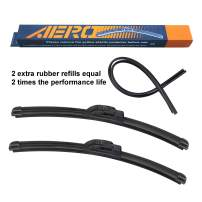 """AERO Voyager 20"""" + 20"""" OEM Quality Premium All-Season Windshield Wiper Blades with Extra Rubber Refill + 1 Year Warranty (Set of 2)"""